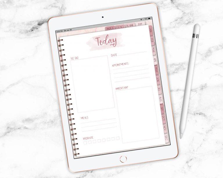 Rose Gold Digital Planner
