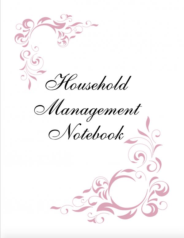 Burgundy Household Notebook