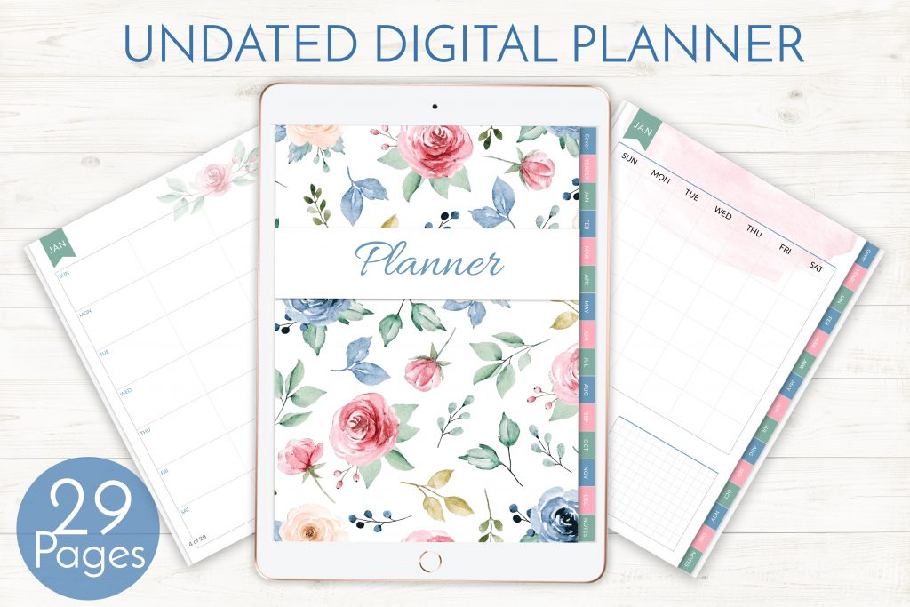 Floral Watercolor Digital Planner